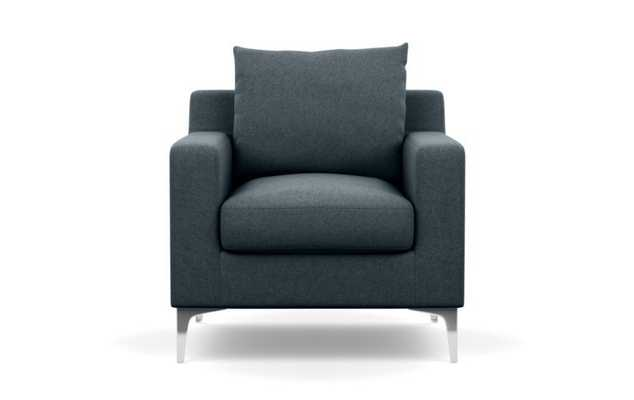 Sloan Chairs with Petite in Union Fabric with Chrome Plated legs - Interior Define