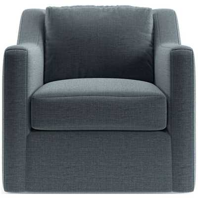 Notch Swivel Chair- Hansel N avy - Crate and Barrel