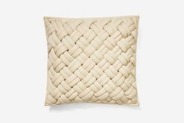 Ivory Jersey Pillow Cover with Pillow Insert - Burrow