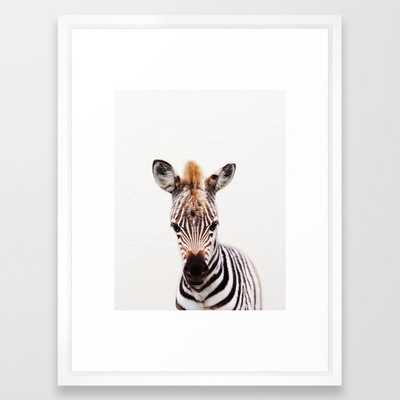 Baby Zebra, Baby Animals Art Prints by Synplus Framed Art Print - Society6