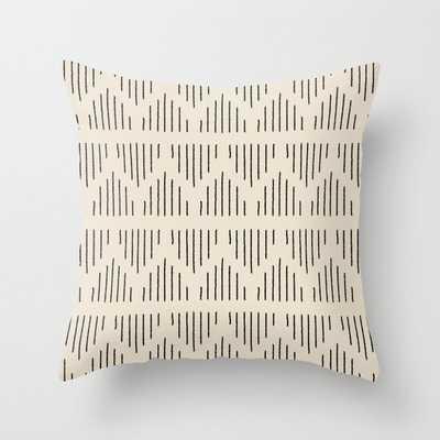 Modern Mudcloth 3, Black on Cream Throw Pillow - Society6
