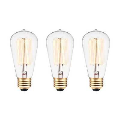 60 Watt A19 Incandescent, Dimmable  Light Bulb, Warm White (2700K) E26/Medium (Standard) Base - Wayfair