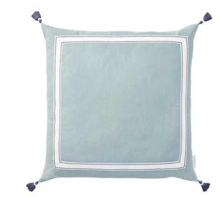 Meadow Ribbon Trim Tassel Pillow - Caitlin Wilson