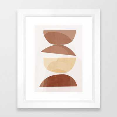 abstract minimal 7 Framed Art Print by ThingDesign - Society6