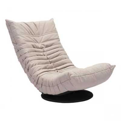 Down Low Swivel Chair Beige - Zuri Studios