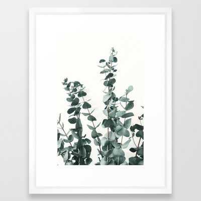 Eucalyptus Leaves Framed Art Print by ArtPrInk Studio 20x26 Vector White - Society6