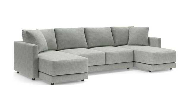 Gather 3-Piece Double Chaise Sectional - Crate and Barrel