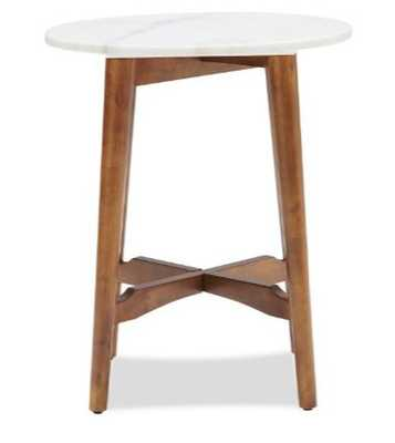 Belham Living James Round Mid Century Modern Marble Side Table - Hayneedle