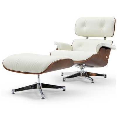 Firenze Swivel Lounge Chair and Ottoman - Wayfair