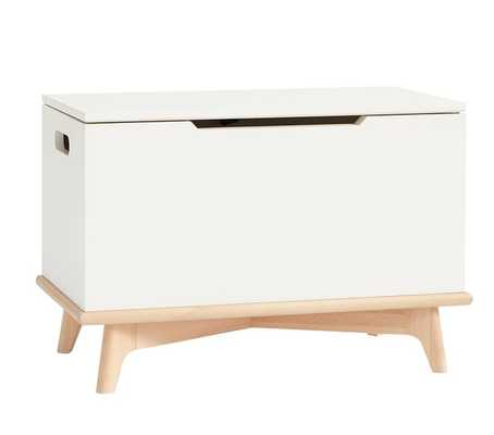 Sloan Toy Chest Storage, White + Natural - West Elm