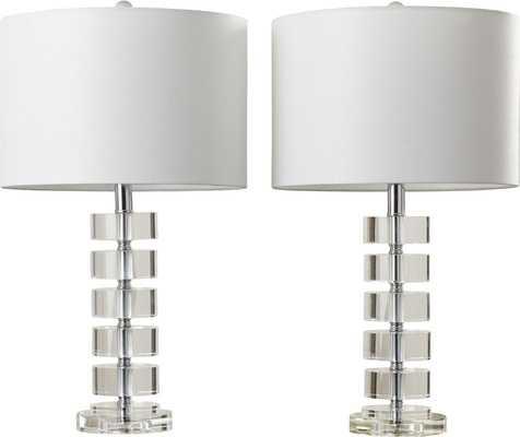 "Powers 25"" Table Lamp (Set of 2) - Wayfair"