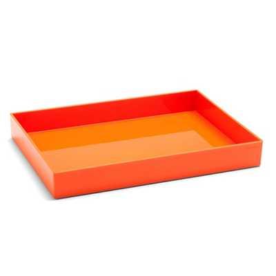 Orange Large Accessory Tray - Poppin