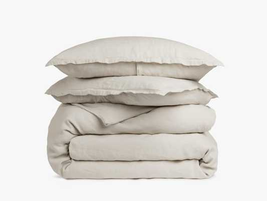 Linen Duvet Cover Set - King - Bone - Parachute