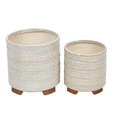 Lossett 2-Piece Ceramic Pot Planter Set - AllModern