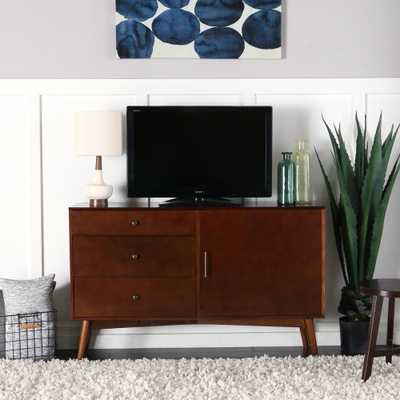 52 in. White Mid-Century TV Console - Home Depot