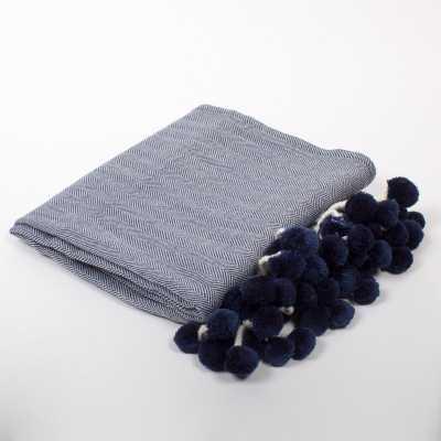 Batten Pom Pom Throw Blanket - Wayfair