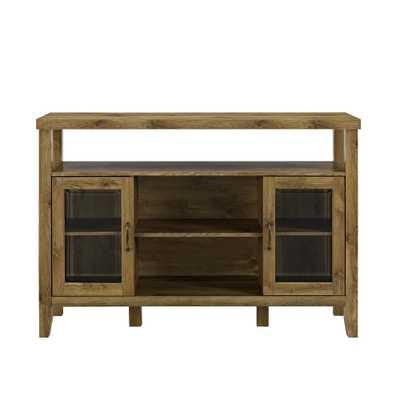 52 in. Barnwood Wood Console High Boy Buffet - Home Depot