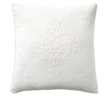 """Maddie Textured Pillow, 22"""", Ivory - Pottery Barn"""