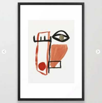Abstract Face Framed Art Print - Society6