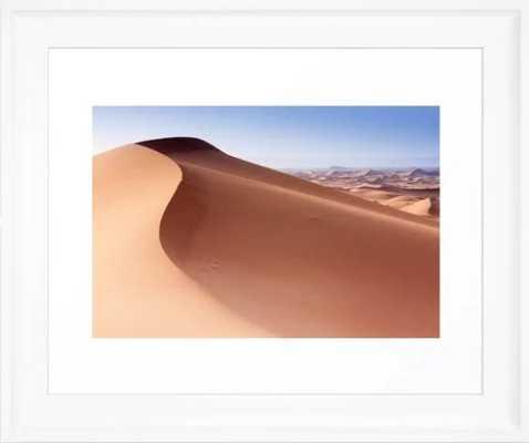 Desert Framed Art Print - Scoop White Small - Society6