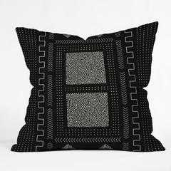 Mud Cloth Inspo I Throw Pillow - 18x18 With Insert - Wander Print Co.