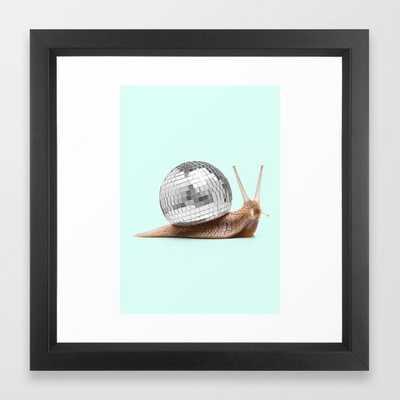 DISCO SNAIL Framed Art Print by Paul Fuentes - Society6