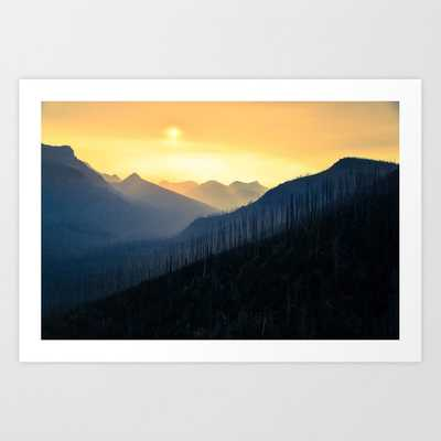 Sunrise Over Mountains Framed Art Print by StayWild - Society6
