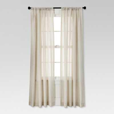 "Leno Weave Sheer Curtain Panel Ivory (54""X84"") - Threshold - Target"