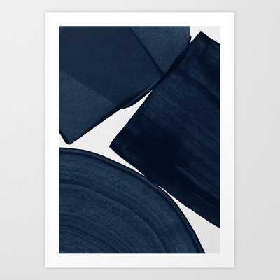 Minimalist Painting Blue II, Mid Century Modern Art canvas - Society6