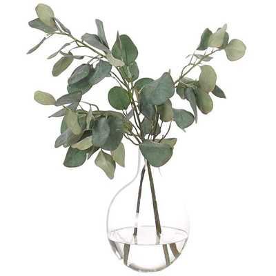Eucalyptus in Glass Vase - High Fashion Home