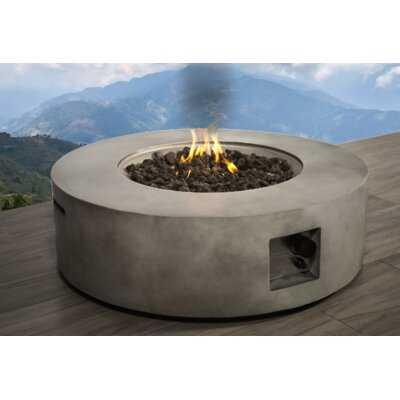 Grice Concrete Propane Gas Fire Pit Table - AllModern