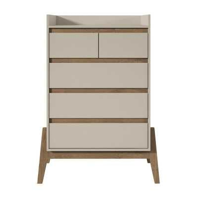 Union Rustic Taul 5 Drawer Dresser: Off White - Wayfair