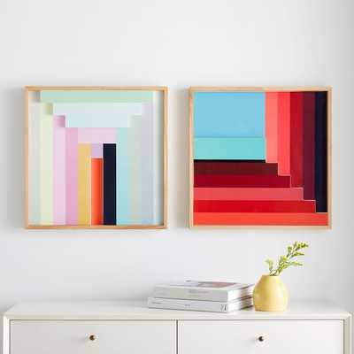 margo shelly colorblock laquer wll art - West Elm