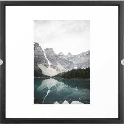 """Moraine lake Framed Art Print - 22"""" X 22"""" Vector Black - Society6"""