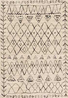 EMORY Rug HEATHER GRAY / BLACK 7'7'' x 10''6'' - Loma Threads