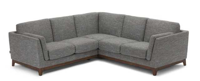 Ceni sectional - VOLCANIC GRAY AND WALNUT - Article