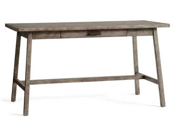 """Mateo 56"""" Rustic Desk with Drawer - Salvaged Grey - Pottery Barn"""