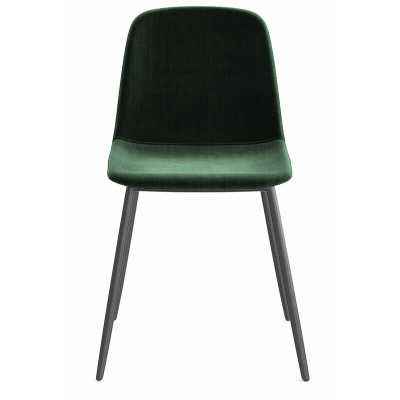 Velvet Upholstered Side Chair (Set of 2) - Wayfair