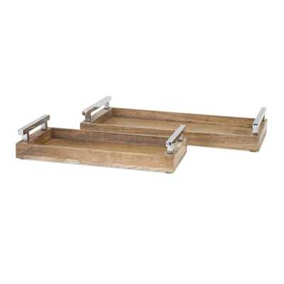Marnie Wood Trays - Set of 2 - Mercer Collection