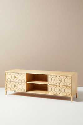 Textured Trellis Media Console - Anthropologie