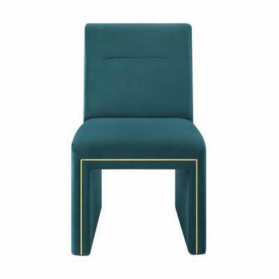 London Teal Performance Velvet Dining Chair - Maren Home