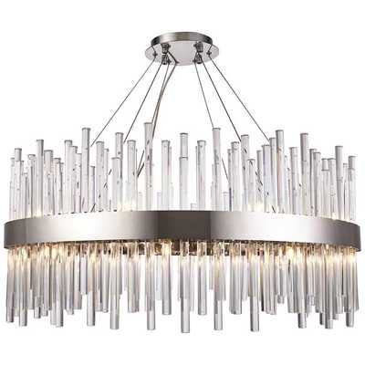 "Dallas 32"" Wide Chrome and Crystal Modern Chandelier - Lamps Plus"