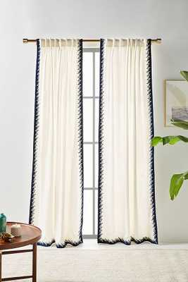 """Ina Embroidered Curtain - 84"""" x 50"""" - Anthropologie"""
