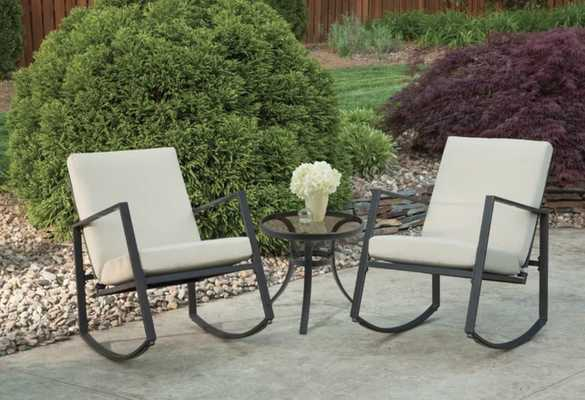Leis Outdoor 3 Piece Seating Group with Cushions - Wayfair