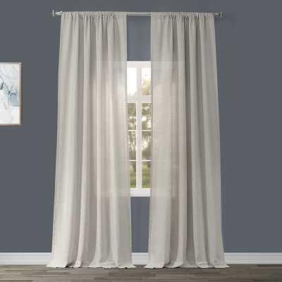 "Pyrogi Linen Sheer Rod Pocket Single Curtain Panel - Birch - 96"" - Wayfair"