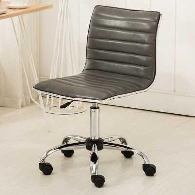 Penkridge Chrome Adjustable Air Lift Office Mid-Back Desk Chair - Wayfair