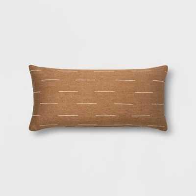 Silk Blend Dash Oversize Lumbar Throw Pillow Neutral - Project 62 - Target