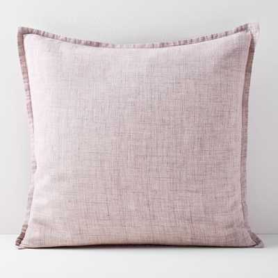"""Belgian Flax Linen Pillow Cover, Vintage Rose, 20""""X20"""" - West Elm"""