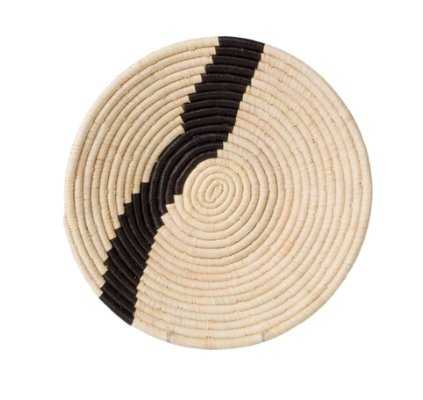 QUENNA STRIPED BASKET, NATURAL AND BLACK - Lulu and Georgia