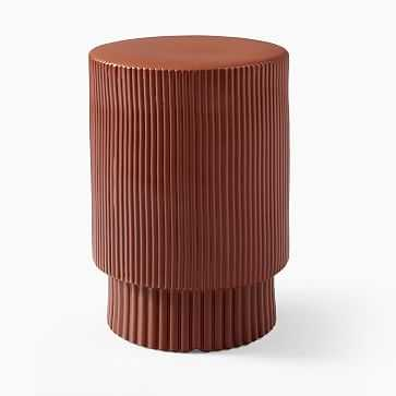Textured Collection Side Table, Terracotta - West Elm